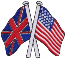 United Kingdom UK & United States of America USA Friendship Embroidered Patch A184